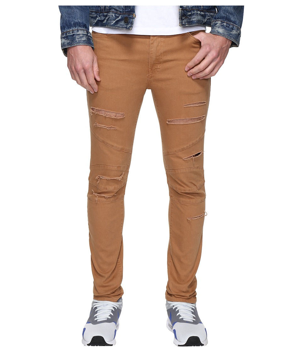 Rustic Dime - Shredded Biker Denim in Tobacco (Tobacco) Men's Jeans
