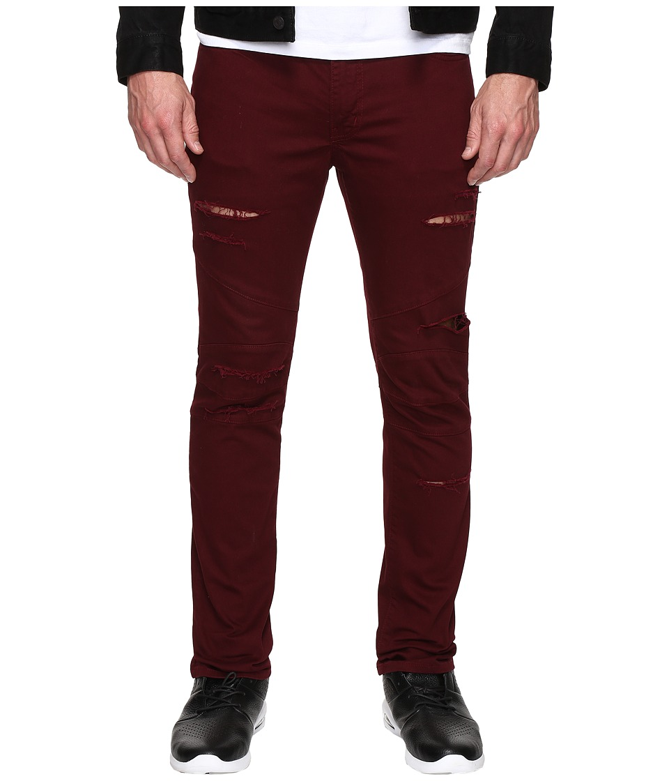 Rustic Dime - Shredded Biker Denim in Vino (Vino) Men's Jeans