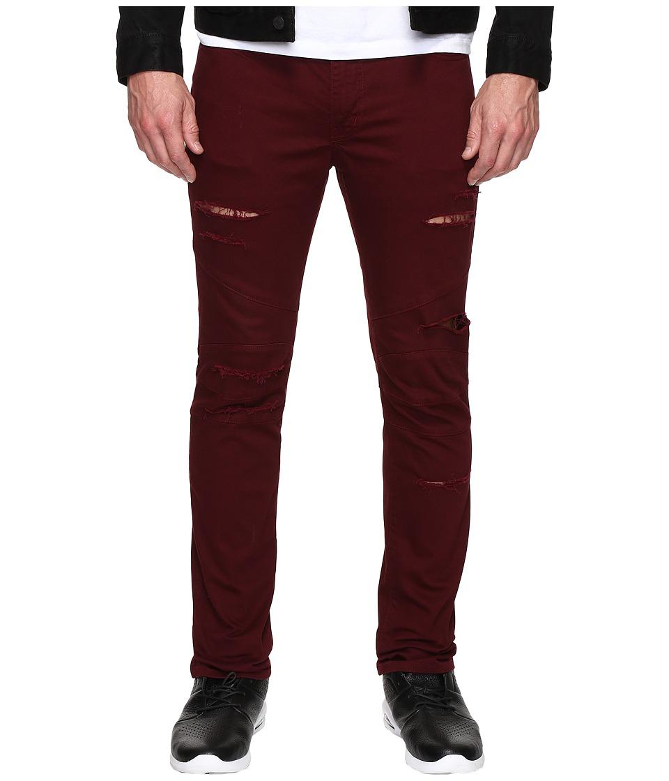 Rustic Dime - Shredded Biker Denim in Vino (Vino) Men's Jeans