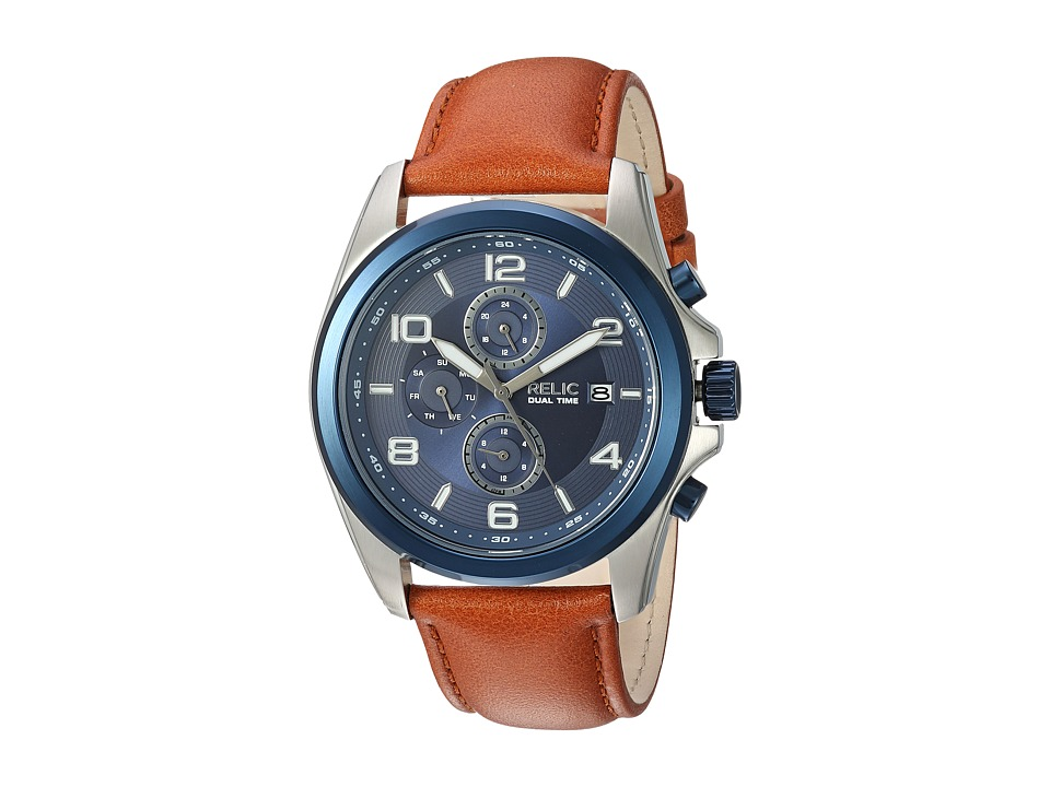 Relic - Daley (Brown/Silver/Blue) Watches