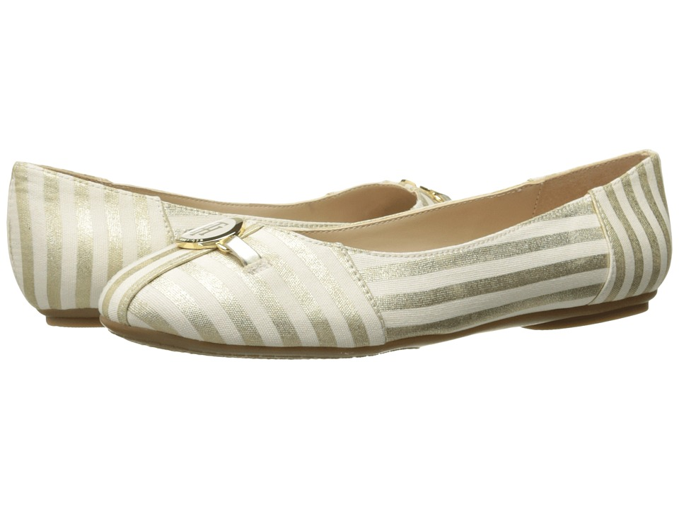 Tommy Hilfiger - Primrose (Gold/White) Women's Shoes