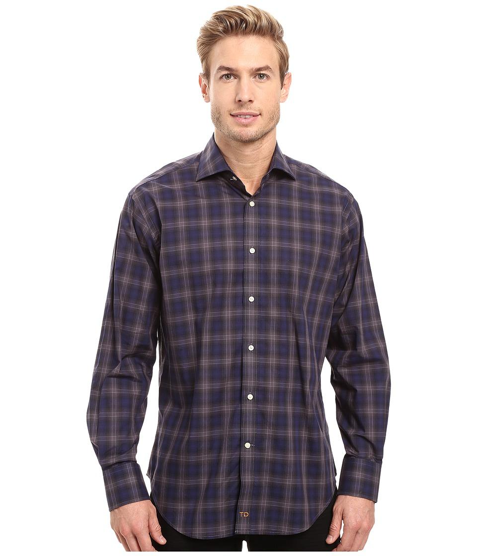 Thomas Dean & Co. - One-Button Spread Collar Ombre (Cobalt) Men's Clothing