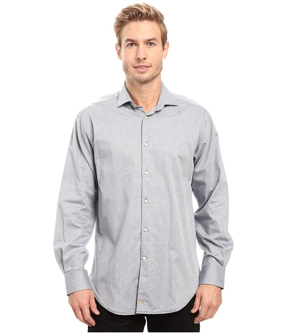 Thomas Dean & Co. - One-Button Modern Spread Collar (Blue) Men's Clothing