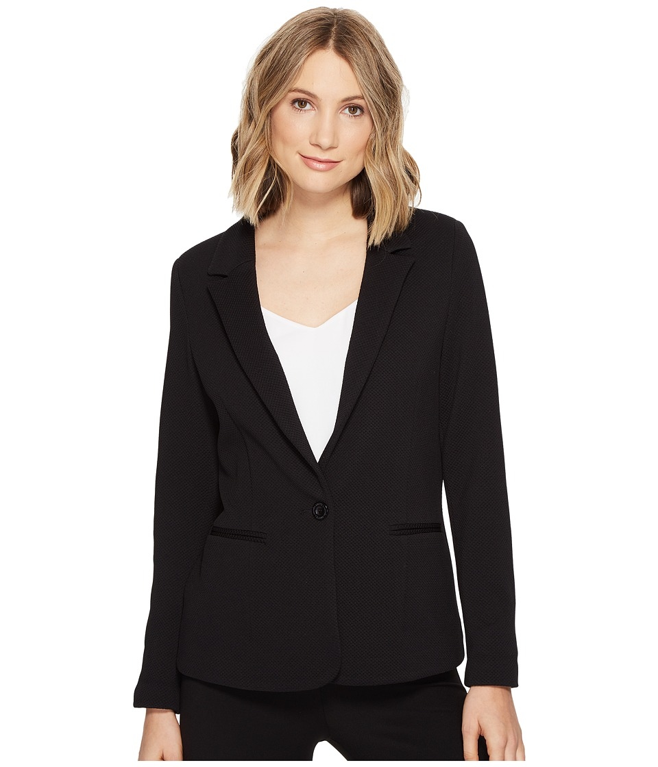 Lisette L Montreal - Pique Knit Jacket (Black) Women's Jacket