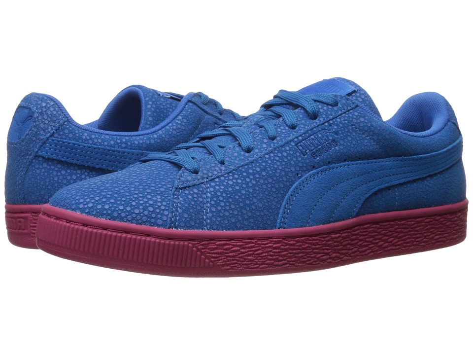 PUMA - Suede Classic Culture Surf (French Blue/Vivacious) Men's Shoes
