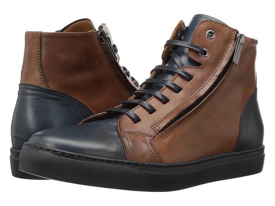 Bruno Magli - Vizzi (Cognac/Navy) Men's Shoes