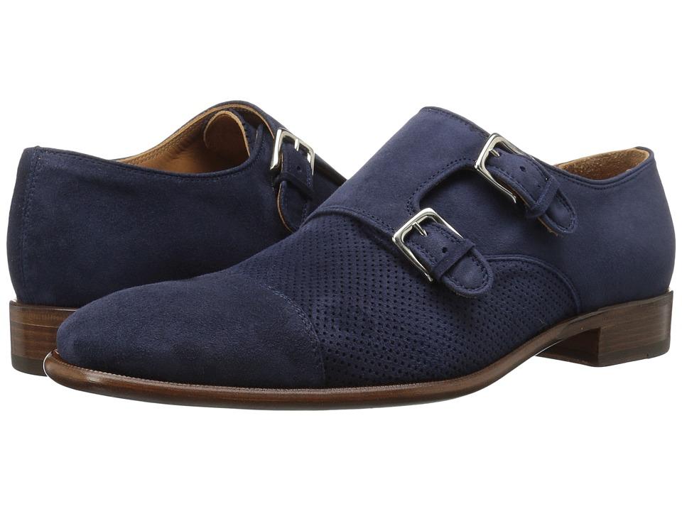 Bruno Magli - Wesley Suede (Navy) Men's Shoes
