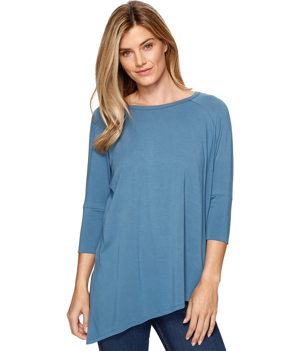 Lisette L Montreal - Sienna Jersey Asymmetrical Hem Top (Palm Beach Blue) Women's Long Sleeve Pullover