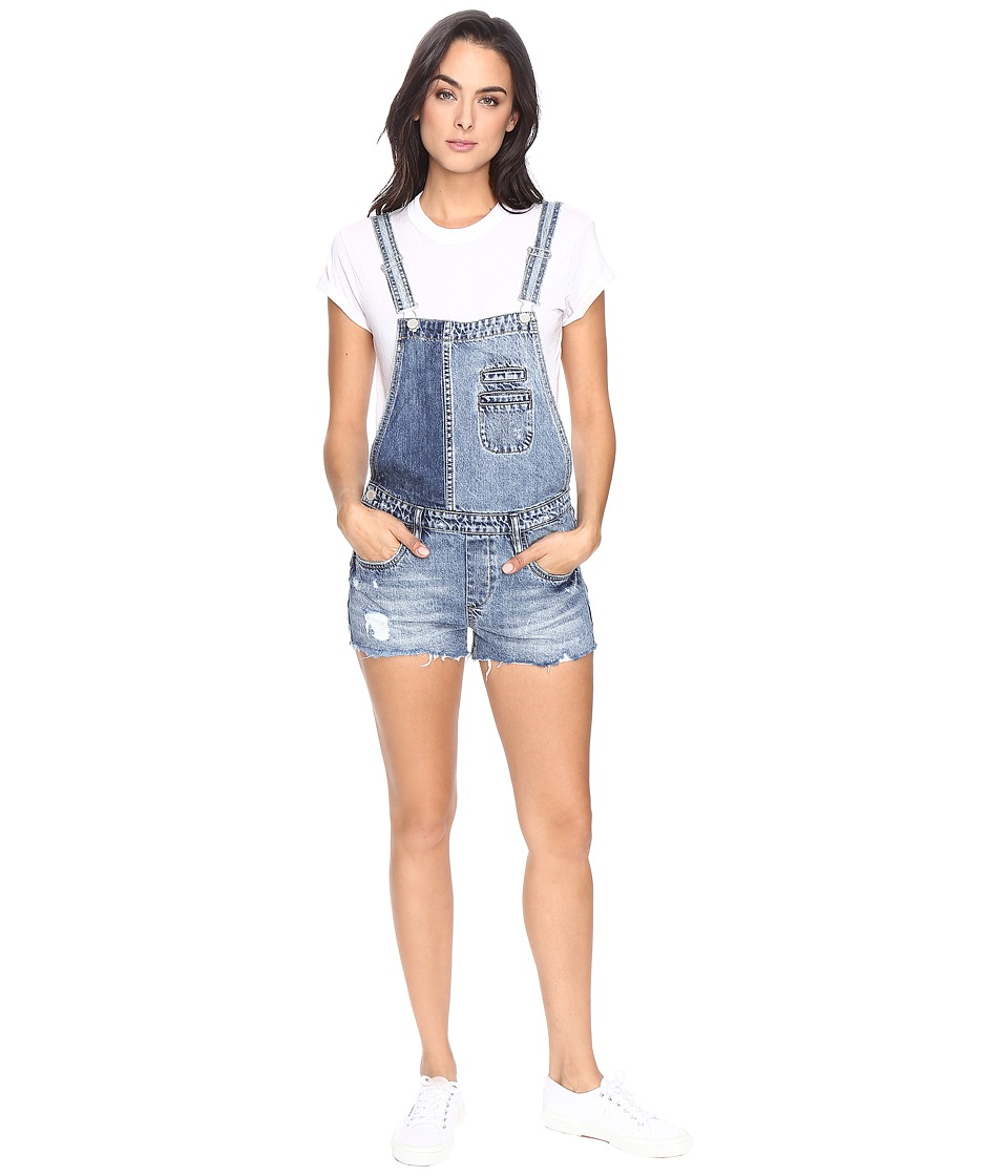 Blank NYC - Denim Color Block Overalls in Whambulance (Whambulance) Women's Overalls One Piece