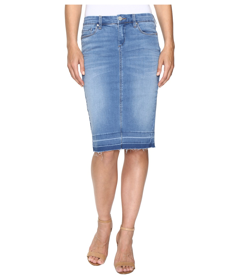 Blank NYC - Denim Rleased Hem Pencil Skirt in One Life Stand (One Life Stand) Women's Skirt