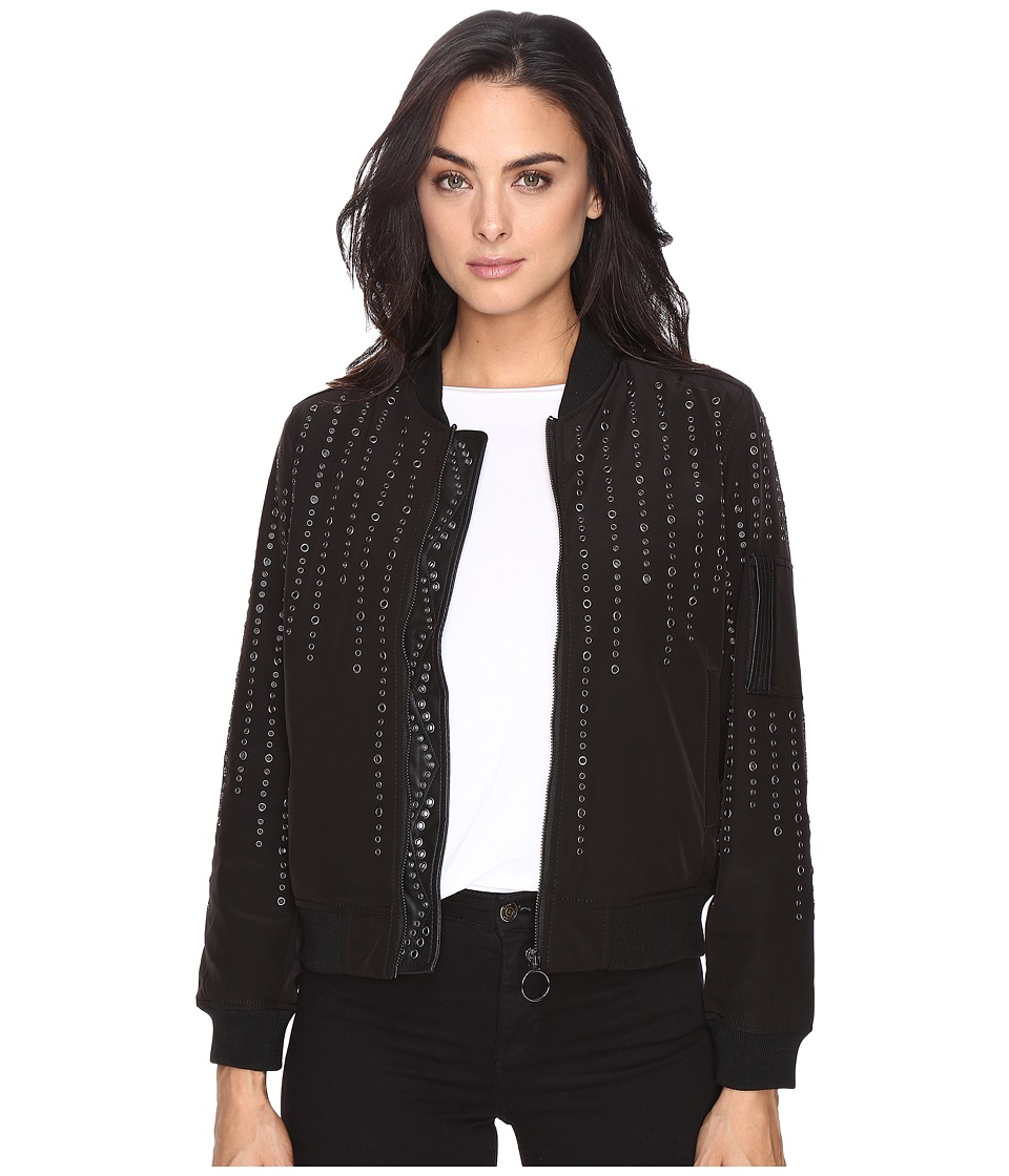 Blank NYC - Eyelet Studded Bomber Jacket in Eyelet You (Eyelet You) Women's Coat