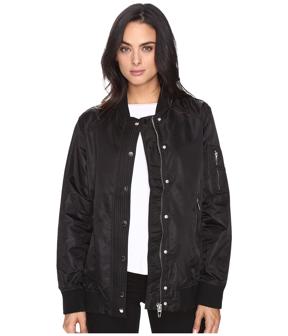 Blank NYC - Black Bomber Jacket in Super Freak (Super Freak) Women's Coat