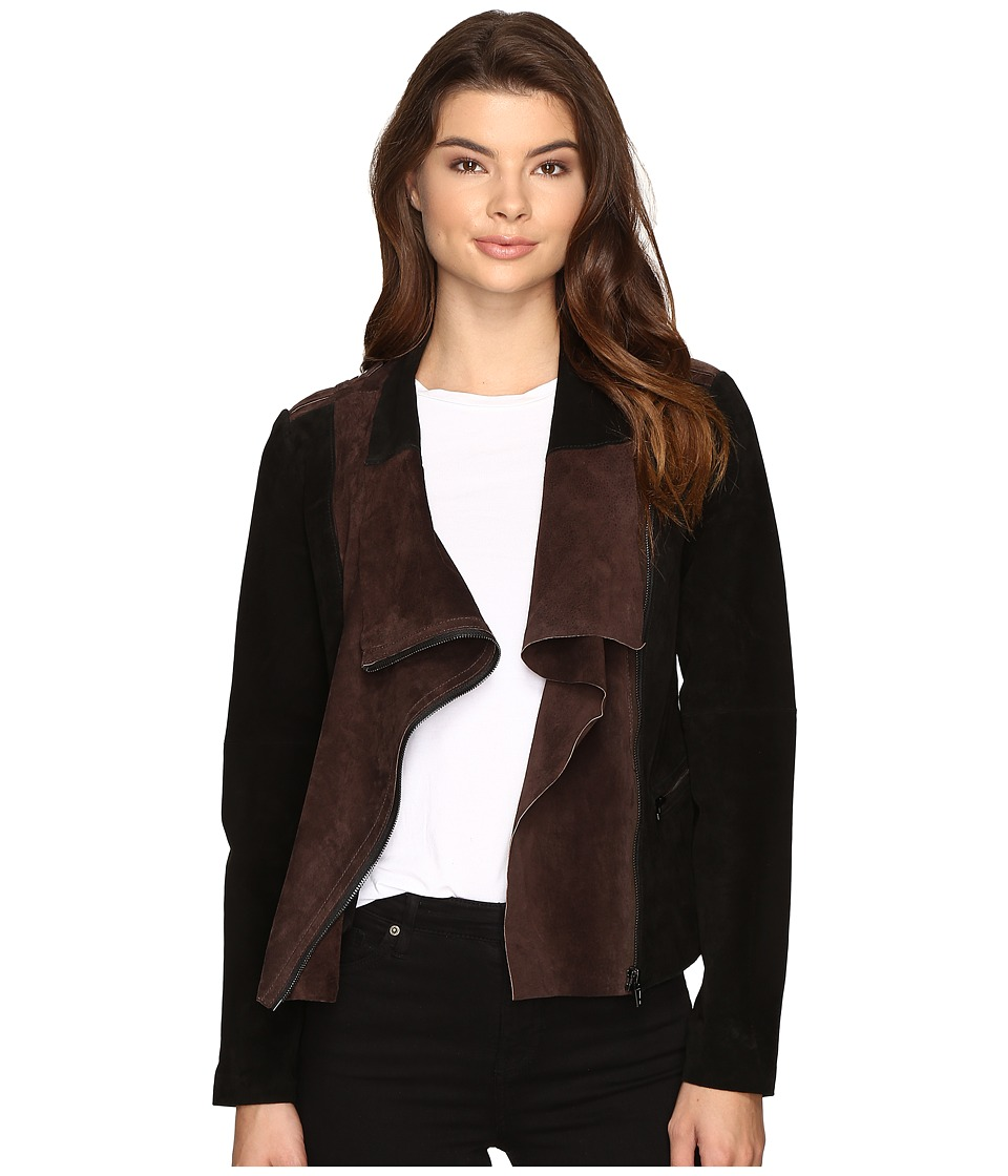 Blank NYC - Real Suede Color Blocking Jacket in Alternate Side (Alternate Side) Women's Coat