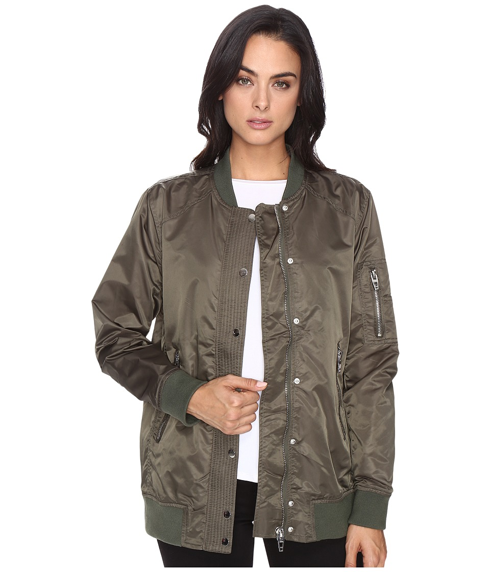 Blank NYC - Olive Bomber Jacket in Flexible (Flexible) Women's Coat