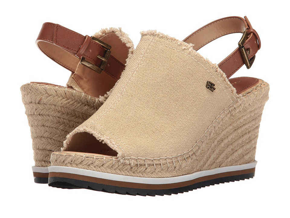 Tommy Hilfiger - Yolanda (Natural/Dark Tan 11/Boho Canvas X) Women's Shoes