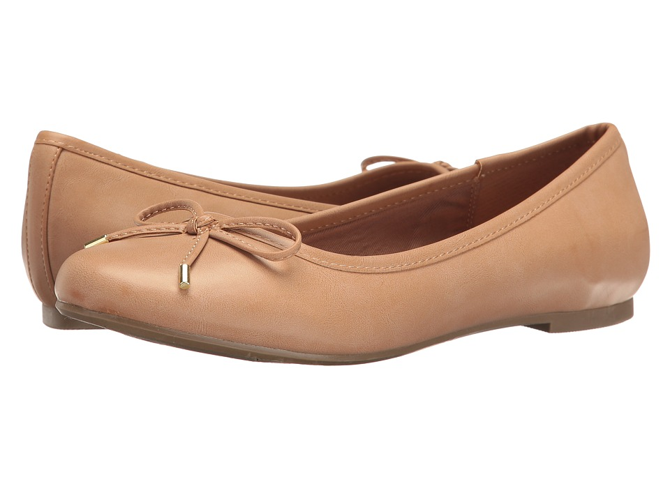 Report - Marie (Tan Synthetic) Women's Flat Shoes