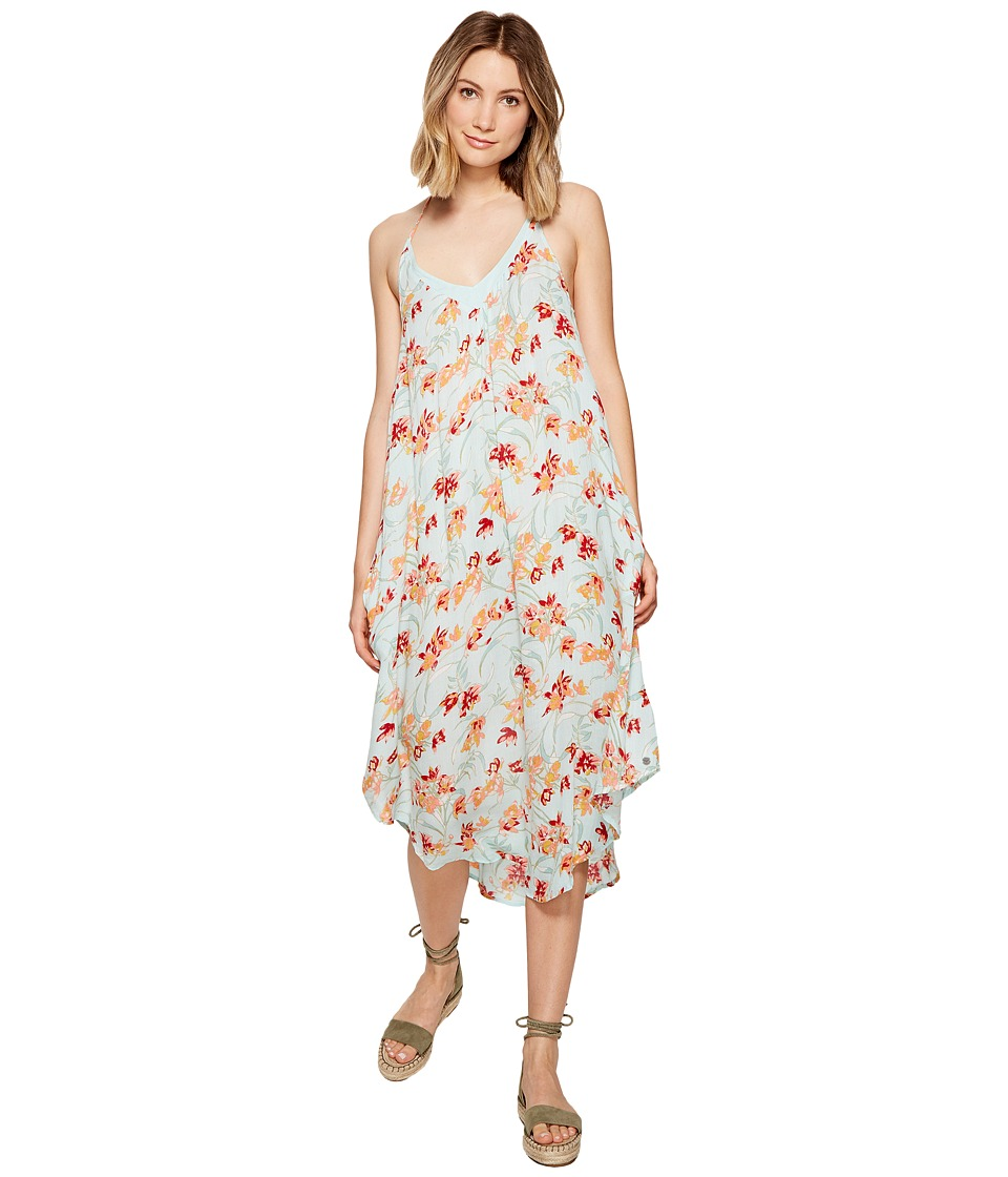 Roxy - Kat Fish Dress (Bleached Aqua Franco Floral) Women's Dress