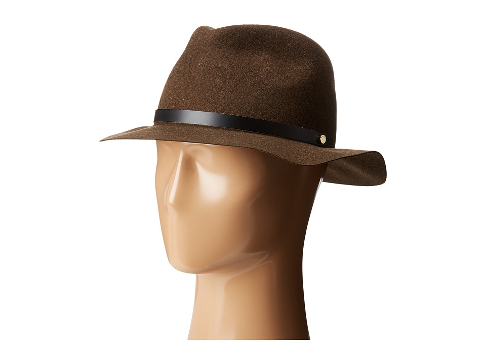 rag & bone - Packable Abbott Fedora (Green Mix) Fedora Hats
