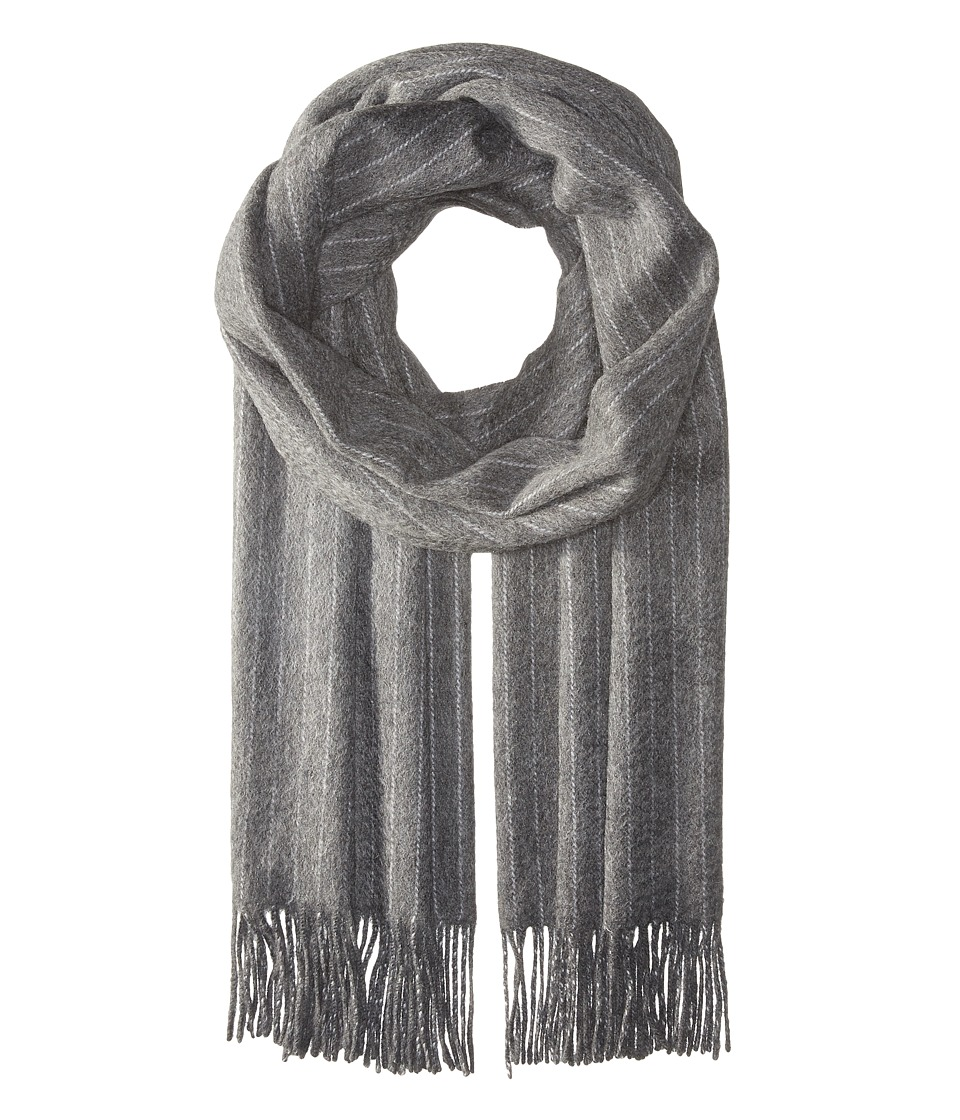 rag & bone - Brushed Pinstripe Scarf (Charcoal) Scarves