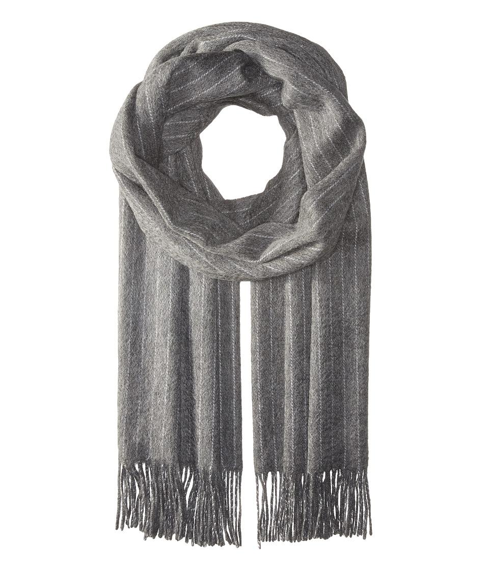 rag & bone - Brushed Pinstripe Scarf (Charcoal) Scarves