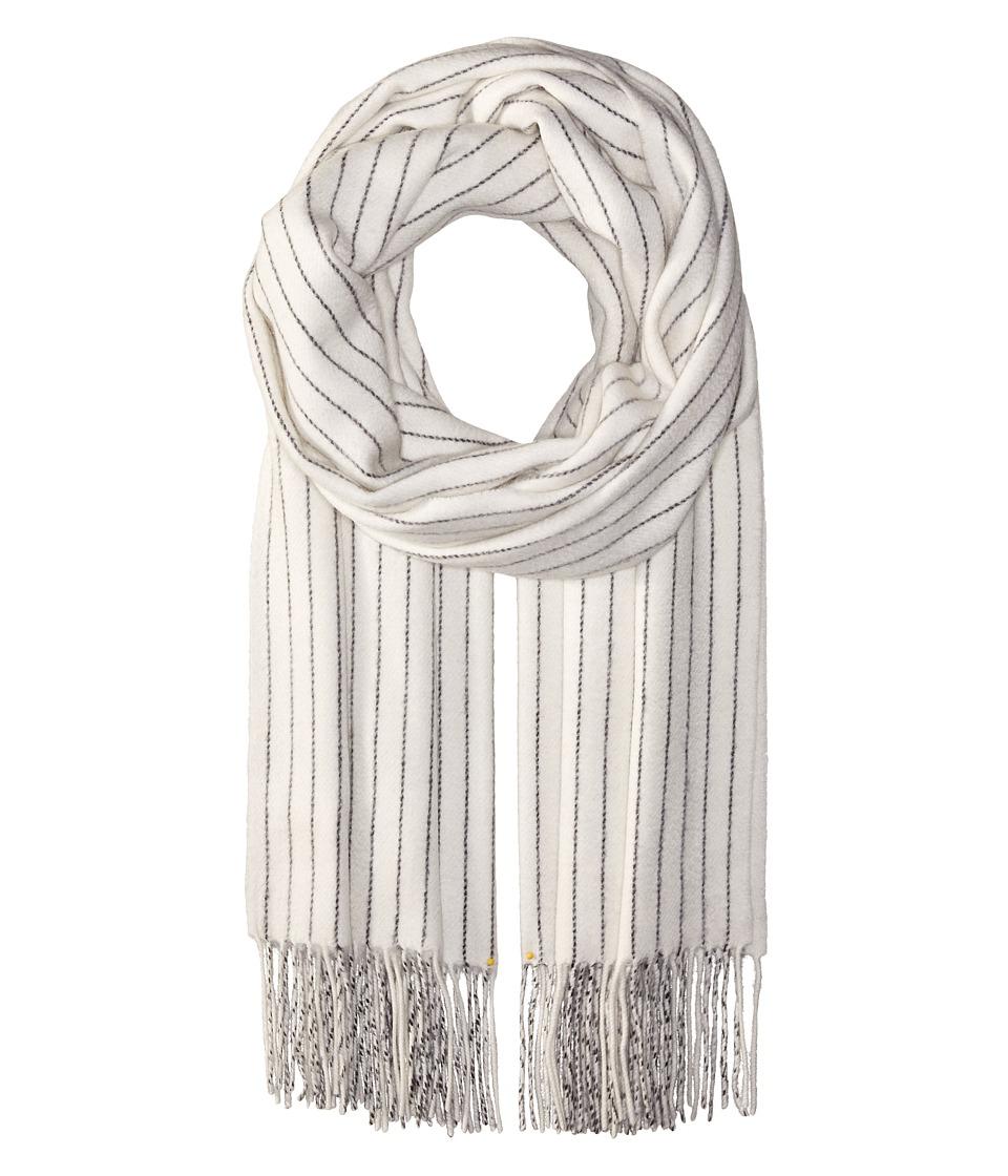 rag & bone - Brushed Pinstripe Scarf (Ivory) Scarves