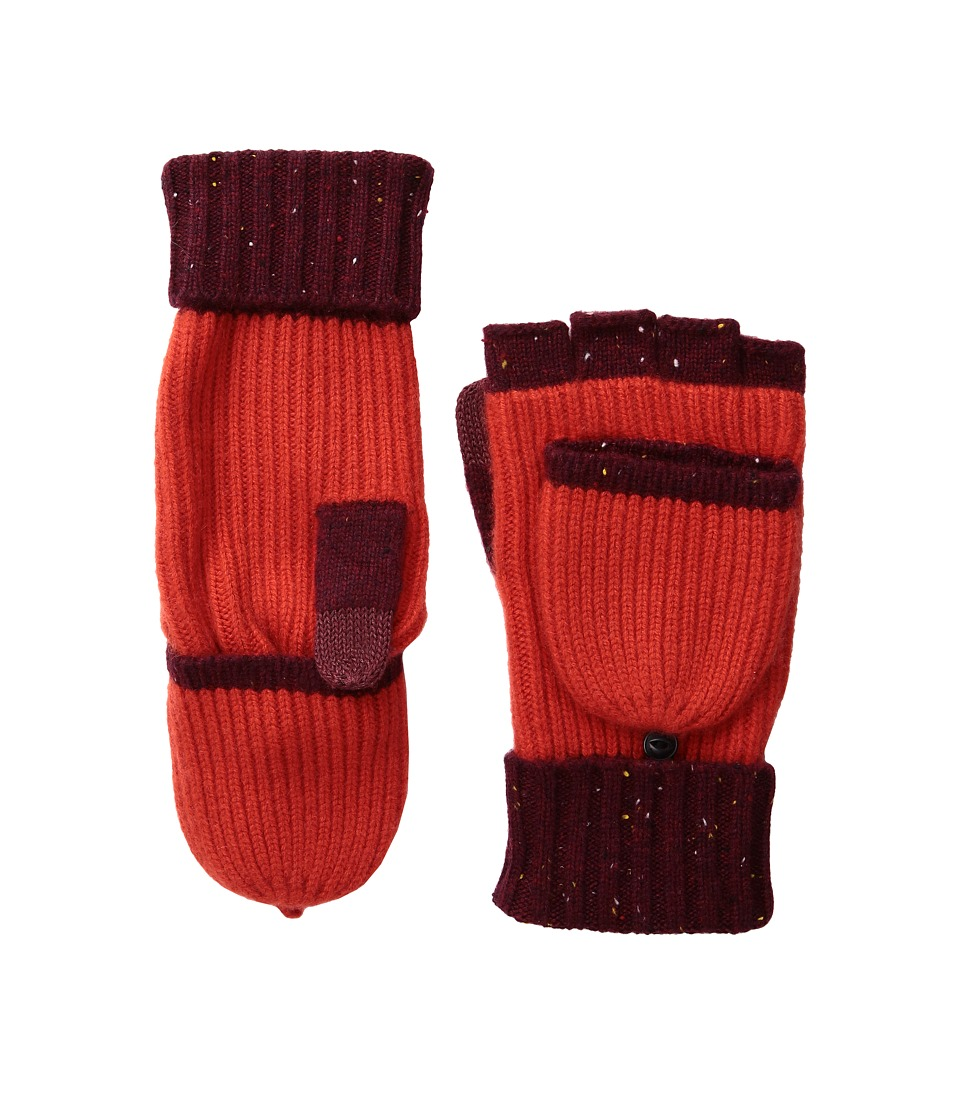 rag & bone - Francesca Cashmere Mitten (Berry) Extreme Cold Weather Gloves