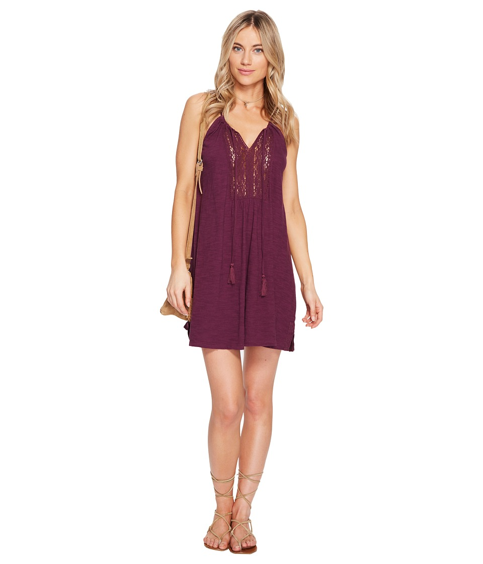 Roxy - Black Water Dress (Grape Wine) Women