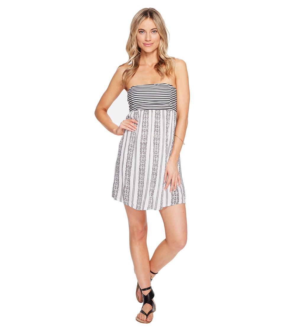 Roxy - Crystal Light Dress (Anthracite Isabella Stripe) Women's Dress