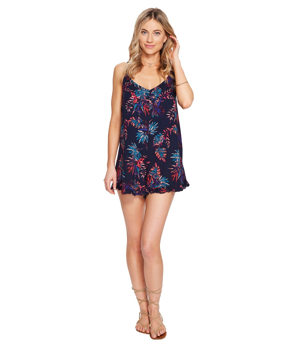 Roxy - Fantastic Isle Romper (Dress Blues Cariban Flowers) Women's Jumpsuit & Rompers One Piece