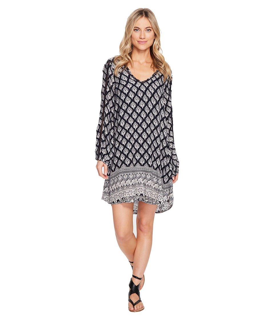 Roxy - Havana Dress (Anthracite Hippie Gypsy Border) Women's Dress