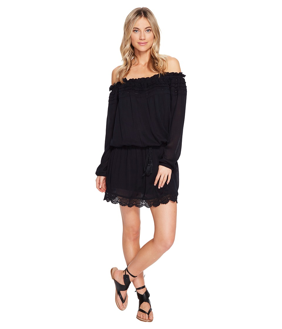 Roxy - Off the Shoulder Dress (Anthracite) Women's Dress
