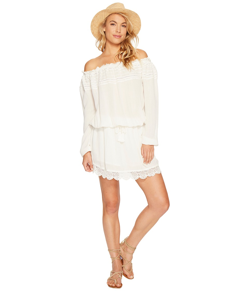 Roxy - Off the Shoulder Dress (Marshmallow) Women's Dress