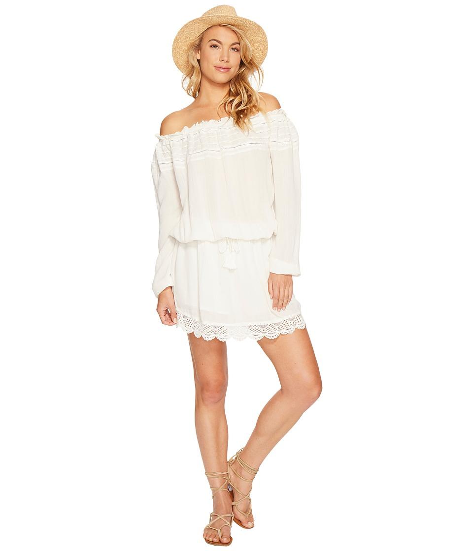 Roxy - Off the Shoulder Dress (Marshmallow) Women's Dress