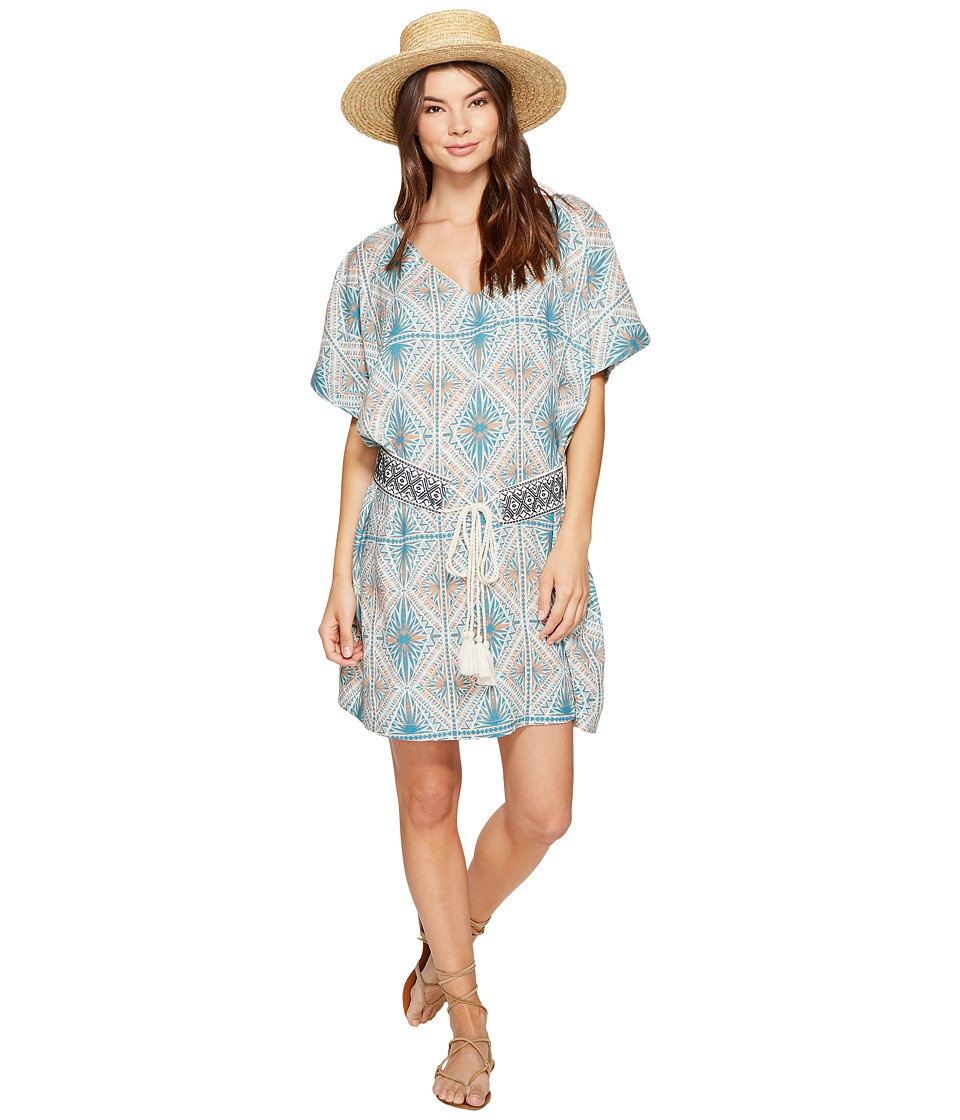 Roxy Delicate Kimono Dress (Mosaic Blue Casablanca Geo) Women