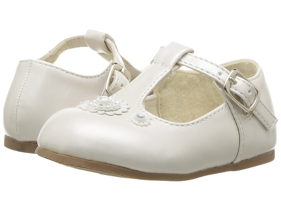 Josmo Kids - 31379 T-Strap Baby Shoe (Infant/Toddler) (Beige Pearl) Girl's Shoes