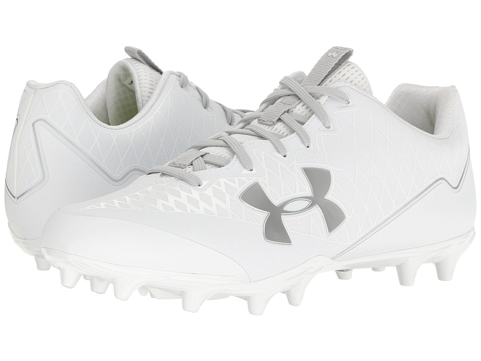 Under Armour - UA Nitro Select Low MC (White/Metallic Silver) Men's Cleated Shoes