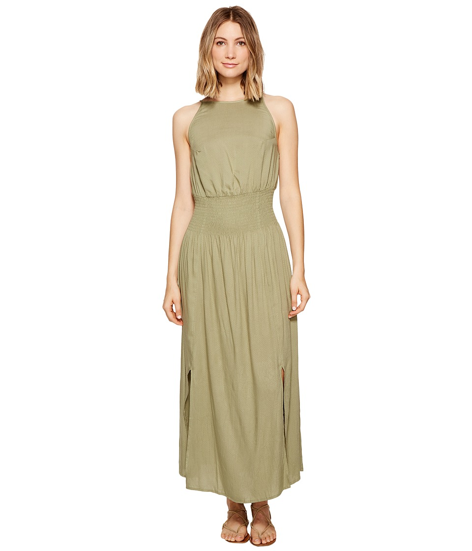 Roxy - Get Sexy in Havana Maxi Dress (Oil Green) Women's Dress