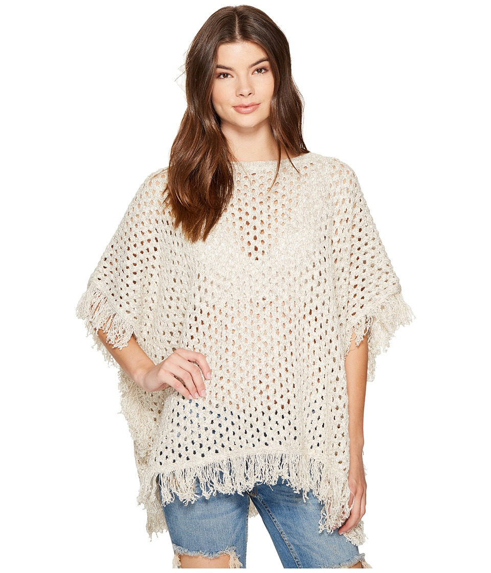 Roxy - Perfect Surf Knitted Poncho (Metro Heather) Women's Sweater