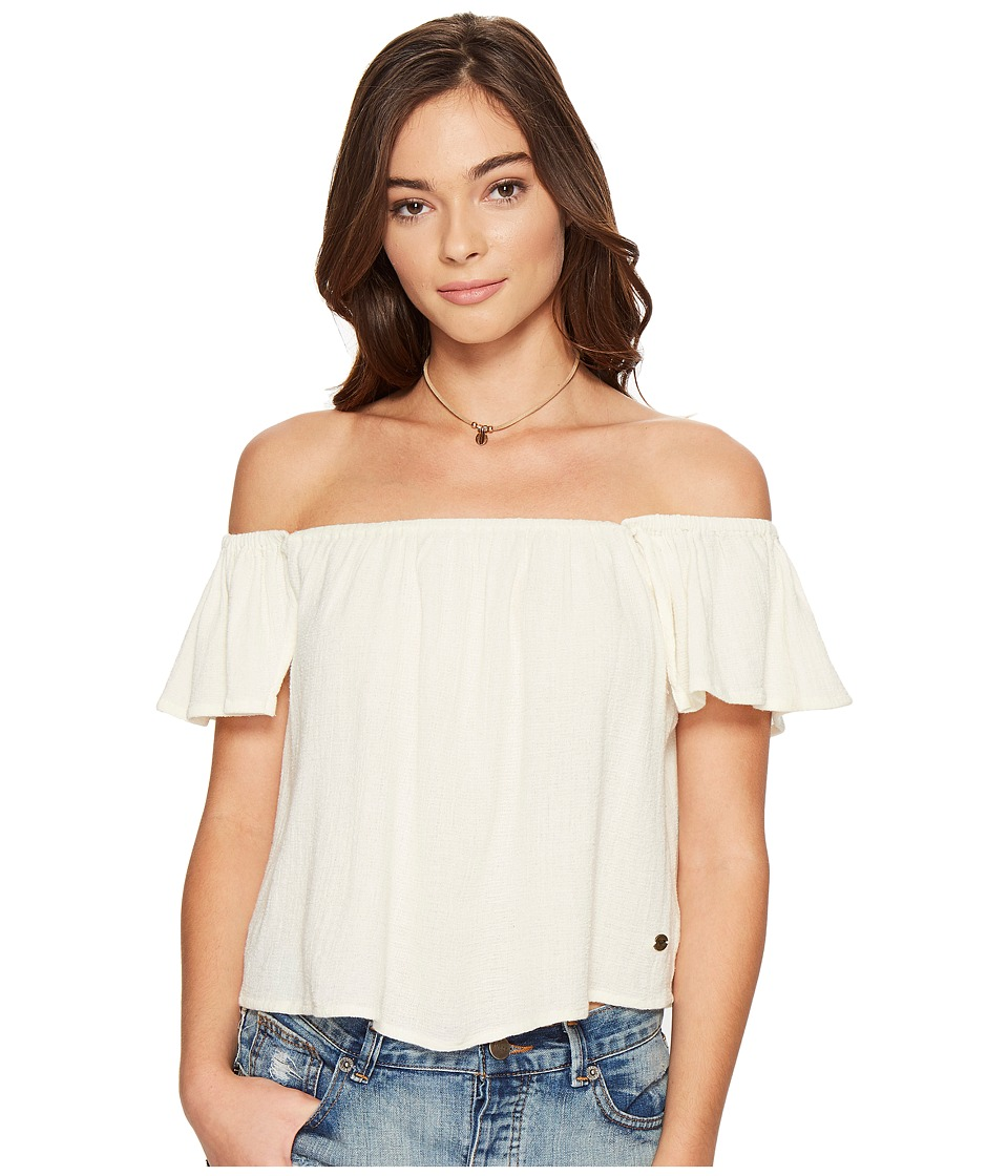 Roxy - Princess In The Sea Cold Shoulder Top (Marshmallow) Women's Clothing