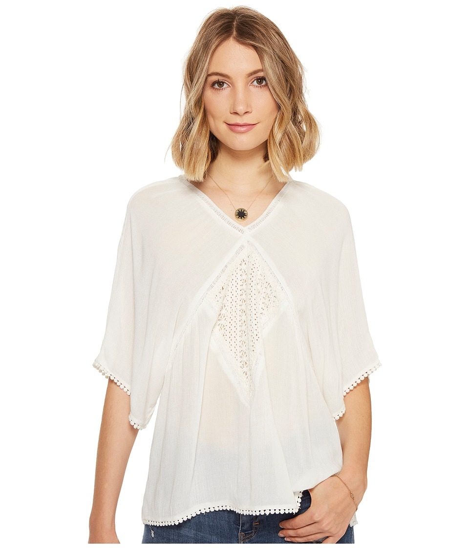 Roxy - Hippie Bohemian Top (Marshmallow) Women's Clothing