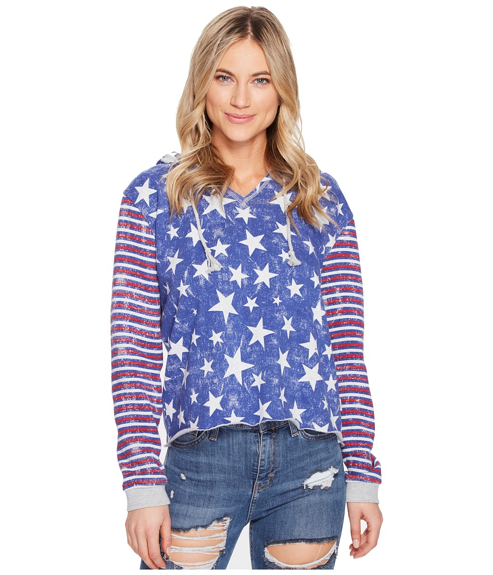 Roxy - Twinfinning A Pullover Hoodie (Marshmallow The 4th Stars) Women