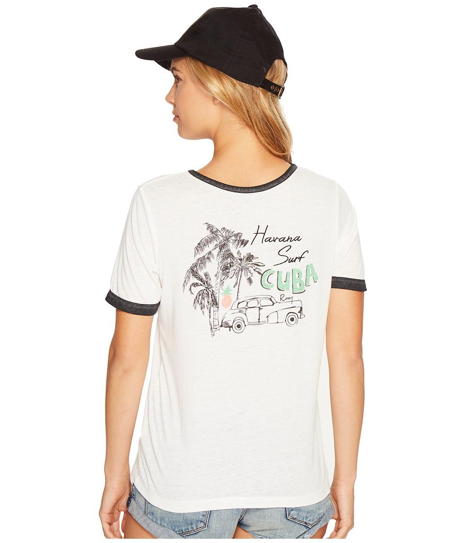 Roxy - Puerto Pic Cuba Times Shirt (Marshmallow) Women's T Shirt