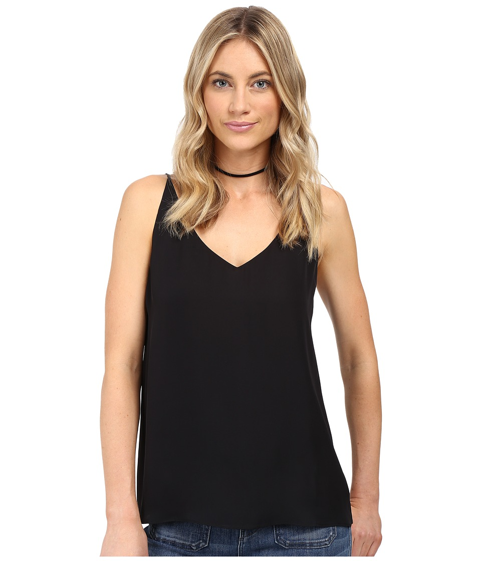 HEATHER - Silk Double Layer Cami Top (Black) Women's Clothing