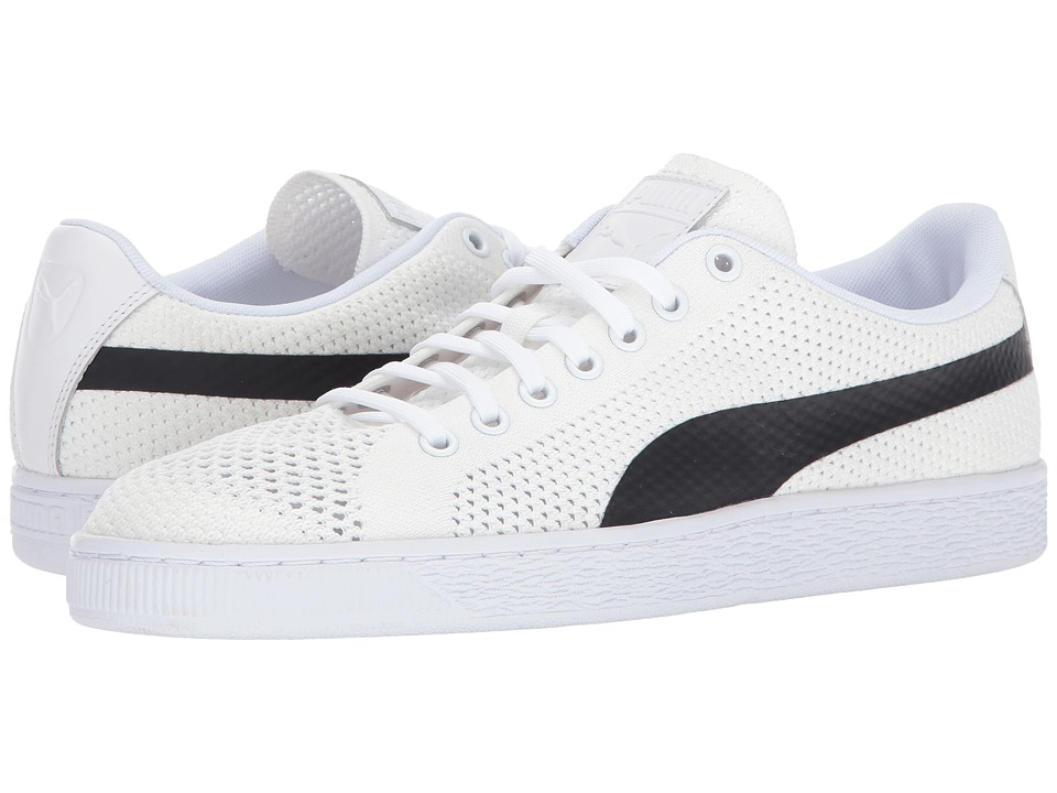 PUMA - Basket Classic Evoknit (Puma White/Puma Black) Men's Shoes