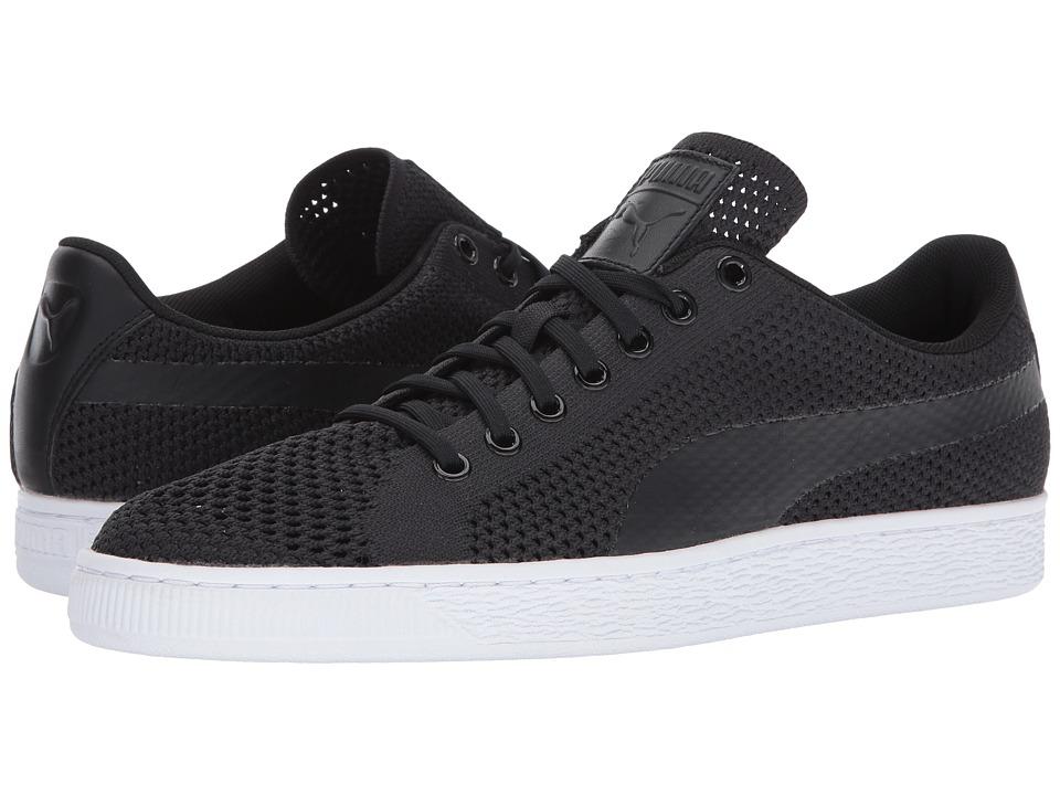 PUMA - Basket Classic Evoknit (Puma Black/Puma Black/Puma Black) Men's Shoes