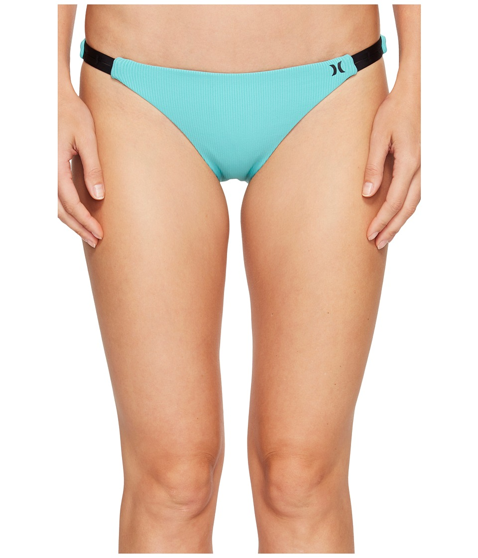 Hurley - Quick Dry Cheeky Bottom (Washed Teal) Women's Swimwear