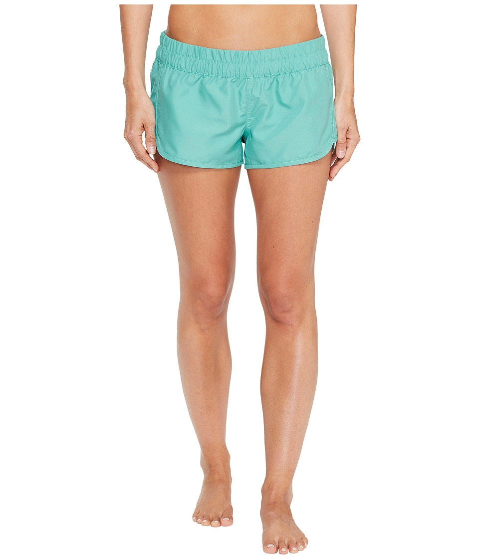 Hurley - Supersuede Solid Beachrider Bottoms (Washed Teal) Women's Swimwear