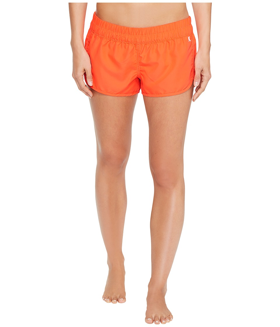 Hurley Supersuede Solid Beachrider Bottoms (Bright Crimson) Women