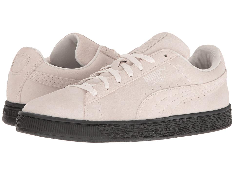 PUMA - Suede Black Sole (Whisper White/Puma Black) Men's Shoes