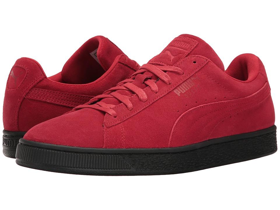 PUMA - Suede Black Sole (Barbados Cherry/Puma Black) Men's Shoes